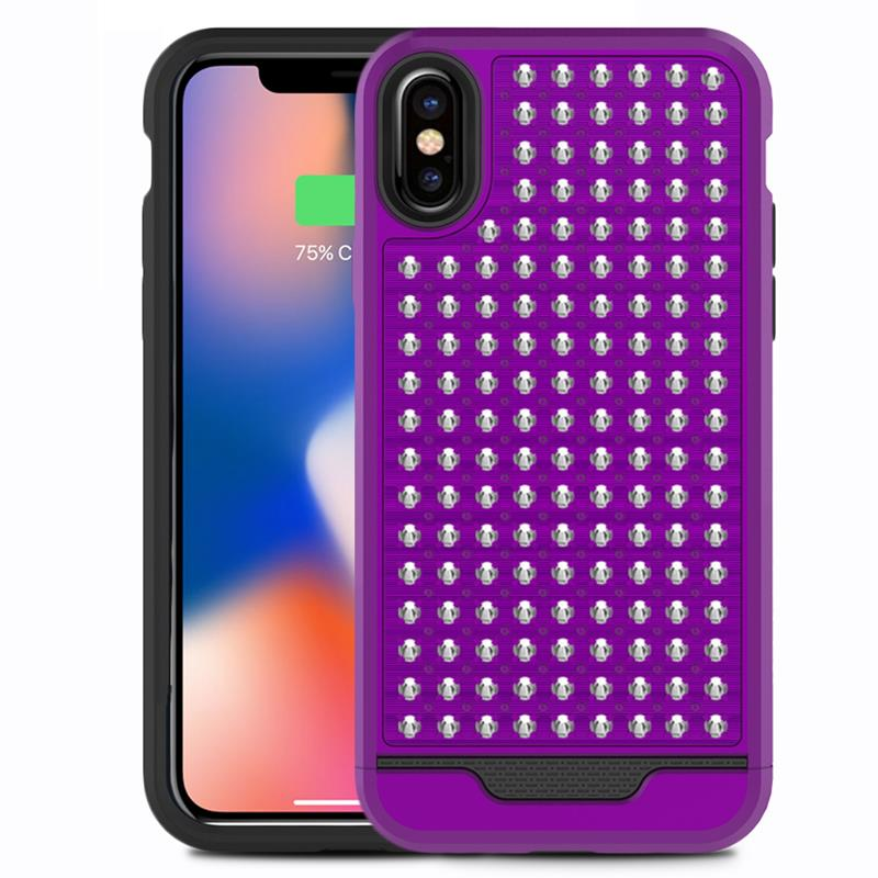 Zizo Star Diamond Hybrid Cover - Etui iPhone X (Purple/Black)
