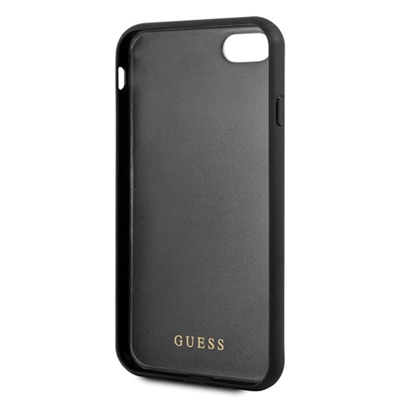 Guess Double Layer Glitter Case - Etui iPhone 8 / 7 (Black)