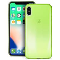 PURO 0.3 Nude - Etui iPhone Xs / X (Fluo Green)
