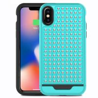Zizo Star Diamond Hybrid Cover - Etui iPhone X (Teal/Black)
