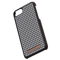Nordic Elements Saeson Idun - Materiałowe etui iPhone SE 2020 / 8 / 7 (Dark Brown Pattern 2)