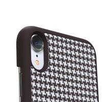Nordic Elements Saeson Idun - Materiałowe etui iPhone XR (Dark Brown Pattern 2)