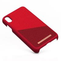 Nordic Elements Saeson Freja - Materiałowe etui iPhone Xs Max (Red)