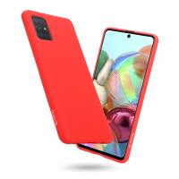 Crong Color Cover - Etui Samsung Galaxy A71 (czerwony)
