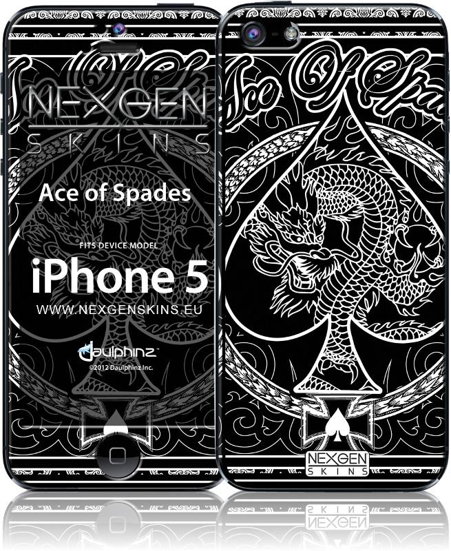 Nexgen Skins - Zestaw skórek na obudowę z efektem 3D iPhone 5/5S (Ace of Spades 3D)