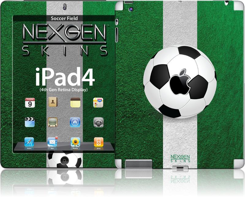 Nexgen Skins - Zestaw skórek na obudowę z efektem 3D iPad 2/3/4 (Soccer Field 3D)