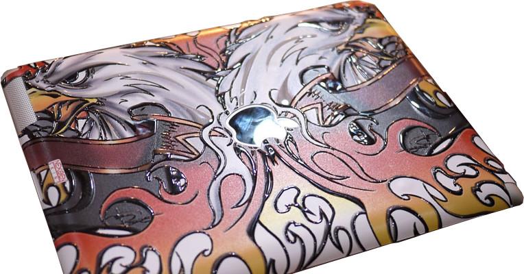 Nexgen Skins - Zestaw skórek na obudowę z efektem 3D iPad 2/3/4 (Iron Eagle 3D)