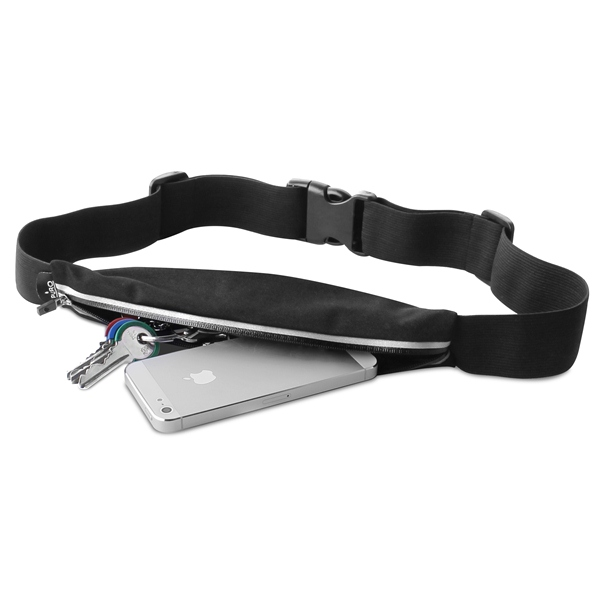 """PURO Universal Sport Belt - Sportowy pasek do smartfonów max 5,7"""" (czarny)"""