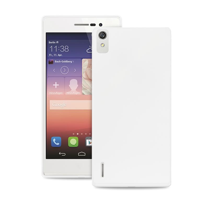 """PURO Ultra Slim """"0.3"""" Cover - Zestaw etui + folia na ekran Huawei Ascend P7 (półprzezroczysty)"""