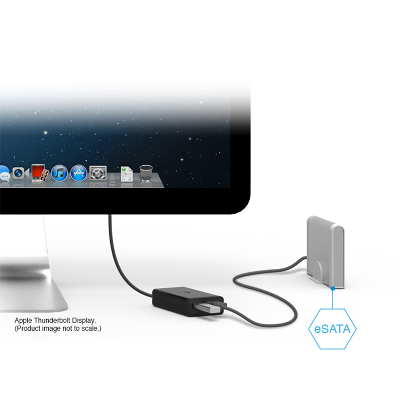 Kanex Thunderbolt to eSATA + USB 3.0 Adapter