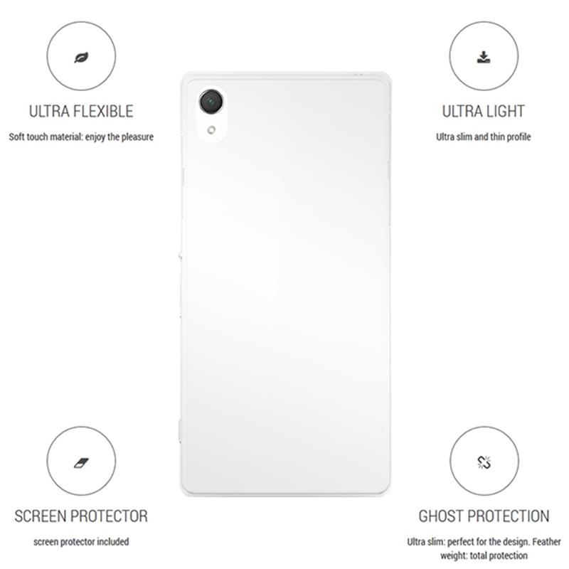 """PURO Ultra Slim """"0.3"""" Cover - Zestaw etui + folia na ekran Sony Xperia Z2 (przezroczysty)"""