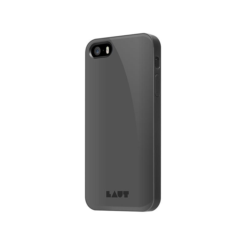 Laut HUEX - Etui iPhone SE / iPhone 5s / iPhone 5 + 2x folia na ekran (czarny)