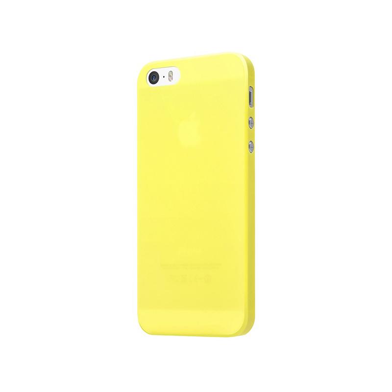 Laut SLIMSKIN - Etui iPhone SE / iPhone 5s / iPhone 5 + 2x folia na ekran (żółty)