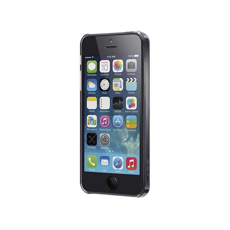Laut SLIM - Etui iPhone SE / iPhone 5s / iPhone 5 + 2x folia na ekran (czarny przezroczysty)