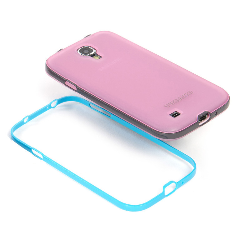 TUCANO Riva - Etui + 2 ramki Samsung Galaxy S4 GT-I9505 (różowy)
