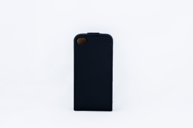 Geffy - Etui iPhone 4s / iPhone 4 Eco Leather flip black