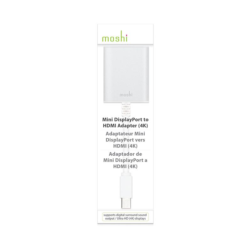 Moshi Mini DisplayPort-HDMI Adapter (4K) (srebrny)