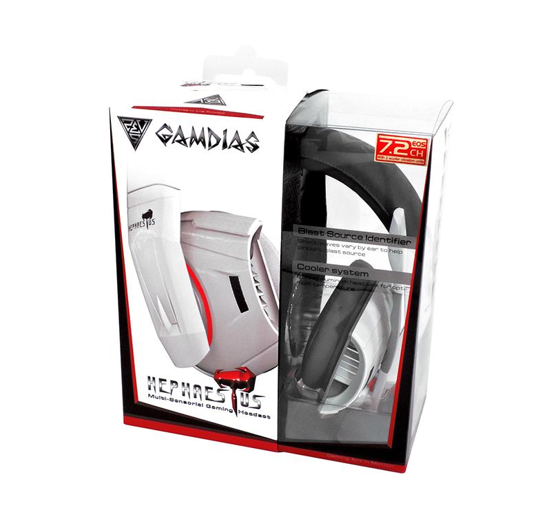 Gamdias Hephaestus - Słuchawki wibracyjne dla graczy virtual 7.1 surround z mikrofonem (USB)