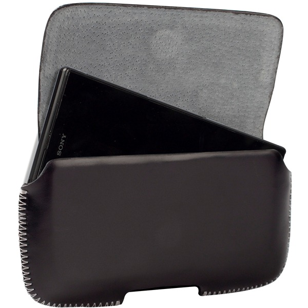 Krusell Hector 4XL - Kabura uniwersalna skórzana (czarny)