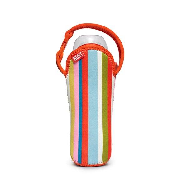 BUILT Bottle Buddy - Termoopakowanie do butelki z uchwytem (Baby Pink Stripe)