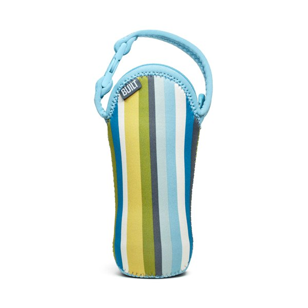 BUILT Bottle Buddy - Termoopakowanie do butelki z uchwytem (Baby Blue Stripe)