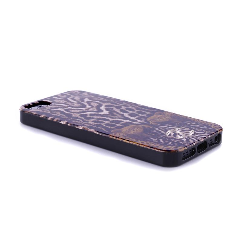 JUST CAVALLI Leopard Tiger Cover - Etui iPhone SE / iPhone 5s / iPhone 5 (czarny)
