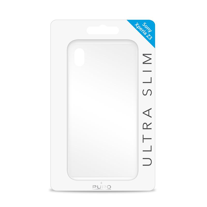 """PURO Ultra Slim """"0.3"""" Cover - Zestaw etui + folia na ekran Sony Xperia Z3 (półprzezroczysty)"""