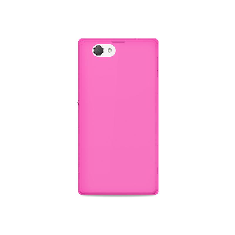"""PURO Ultra Slim """"0.3"""" Cover - Zestaw etui + folia na ekran Sony Xperia Z3 Compact (różowy)"""