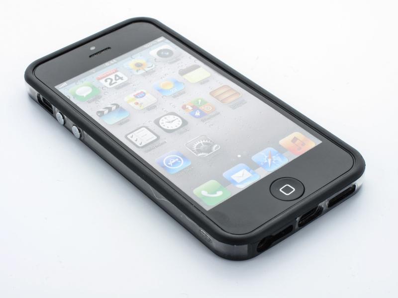 Geffy - Etui iPhone SE / iPhone 5s / iPhone 5 bumper TPU/PVC black