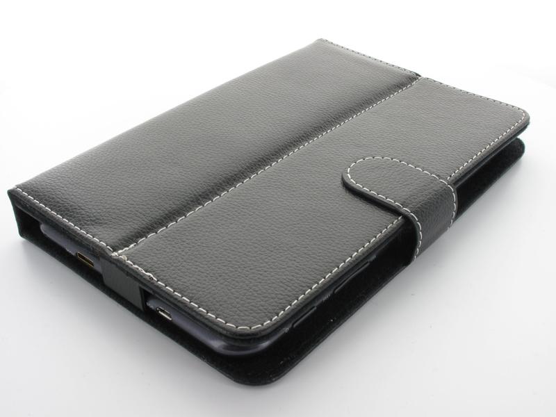 Geffy - Etui uniwersalne Tablet 7 stand eko-skóra black