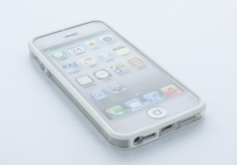 Geffy - Etui iPhone SE / iPhone 5s / iPhone 5 bumper TPU/PVC white