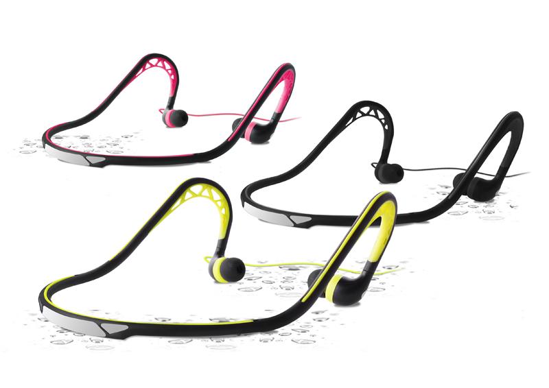 PURO Sport Hearphones in-ear - Słuchawki sportowe z pałąkiem na kark (różowy)