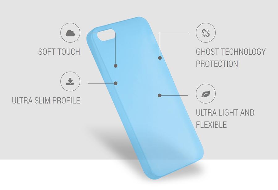 """PURO Ultra Slim """"0.3"""" Cover - Zestaw etui + folia na ekran iPhone SE / iPhone 5s / iPhone 5 (czarny przezroczysty)"""