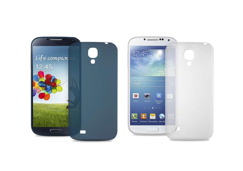 "PURO Ultra Slim ""0.3"" Cover - Zestaw etui + folia na ekran Samsung Galaxy S4 (niebieski)"