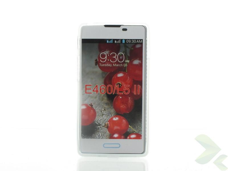 Geffy - Etui LG Swift / Optimus L5 II E460 TPU mat clear