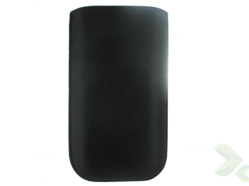 Geffy - Etui uniwersalne Tel 135x70 pull-up eko-skóra black