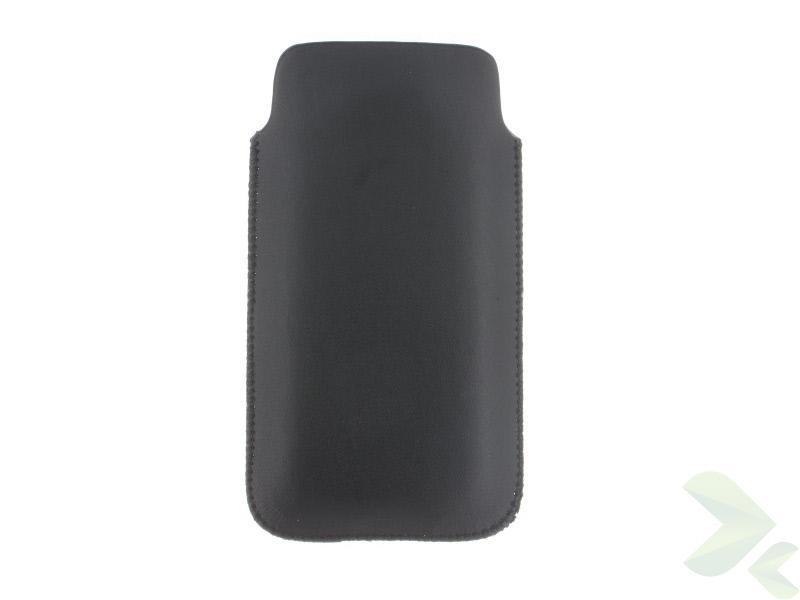 Geffy - Etui uniwersalne Tel 124x63 pull-up eko-skóra black/black