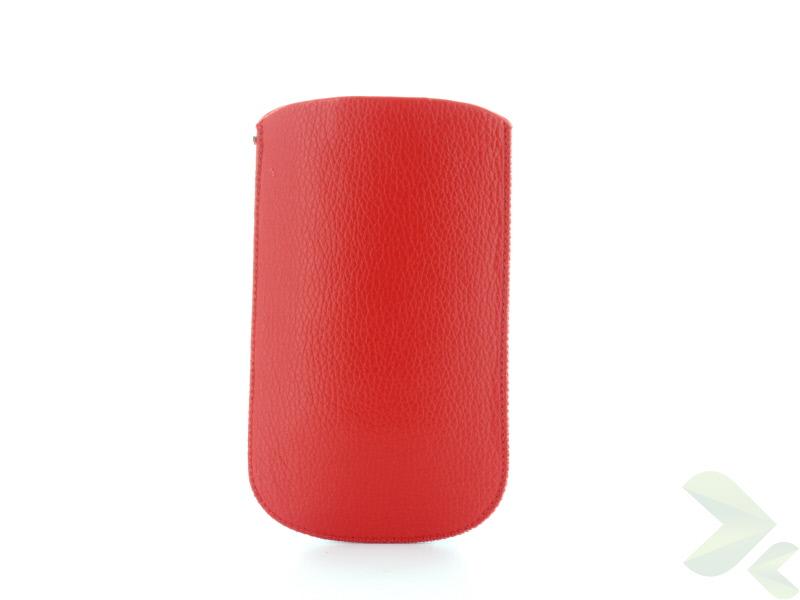 Geffy - Etui uniwersalne Tel 126x69 pull-up eko-skóra red