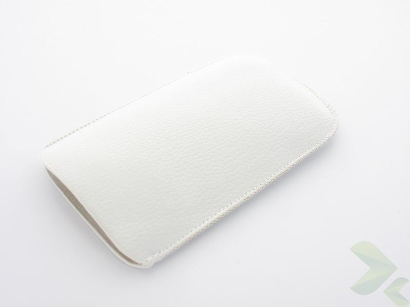 Geffy - Etui uniwersalne Tel 112x65 pull-up eko-skóra white
