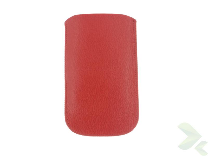 Geffy - Etui uniwersalne Tel 112x65 pull-up eko-skóra red