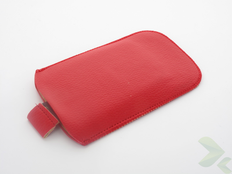 Geffy - Etui uniwersalne Tel 112x65 pull-up eko-skóra red