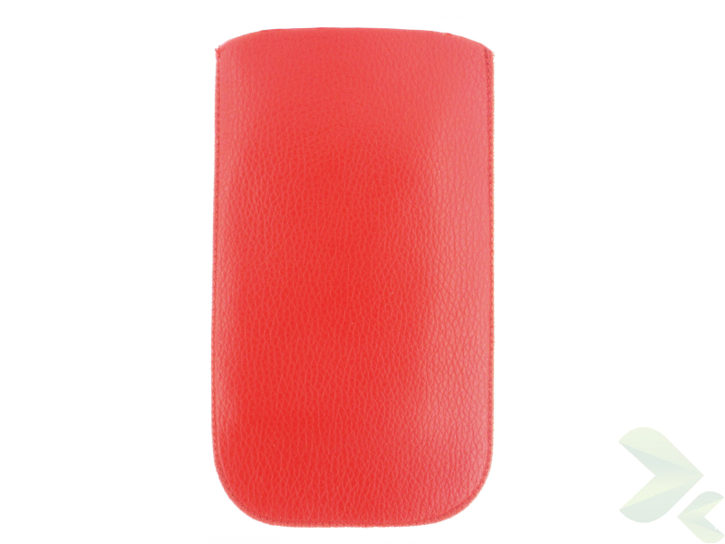 Geffy - Etui uniwersalne Tel 135x70 pull-up eko-skóra red