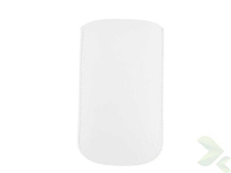 Geffy - Etui uniwersalne Tel 126x69 pull-up eko-skóra white