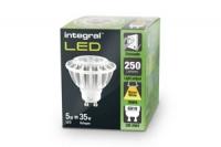 Integral żarówka LED GU10 PAR16 5W (35W) 2700K 250lm barwa biała ciepła