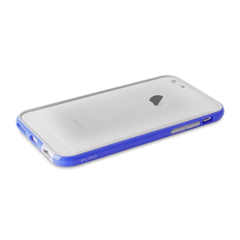 PURO Bumper Cover - Etui iPhone 6s / iPhone 6 z folią na ekran w zestawie (niebieski)