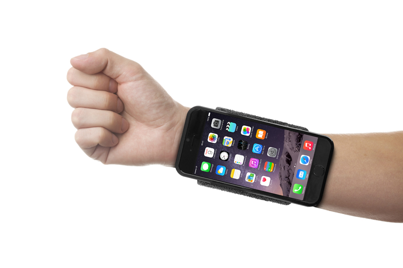 PURO Running Band - Frotka do biegania z etui iPhone 6s / iPhone 6 z key pocket (czarny)
