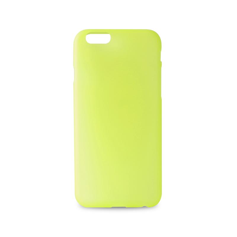 "PURO Ultra Slim ""0.3"" Cover - Zestaw etui + folia na ekran iPhone 6s / iPhone 6 (limonkowy)"
