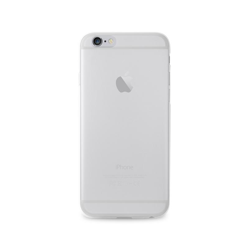 """PURO Ultra Slim """"0.3"""" Cover - Zestaw etui + folia na ekran iPhone 6s / iPhone 6 (półprzezroczysty)"""