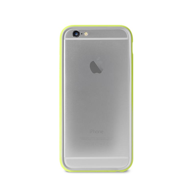 PURO Bumper Cover - Etui iPhone 6s Plus / iPhone 6 Plus z folią na ekran w zestawie (limonkowy)
