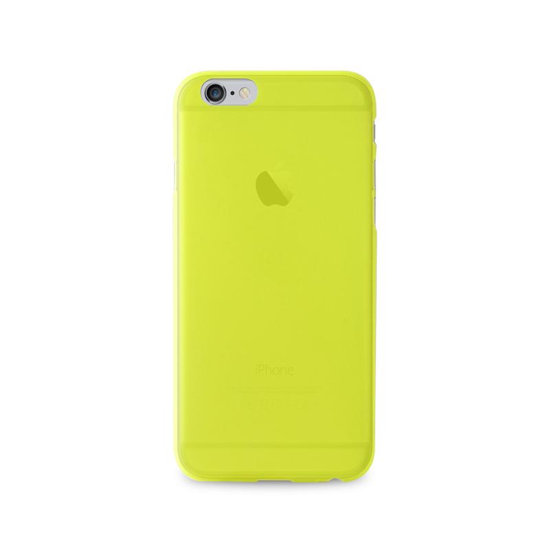 "PURO Ultra Slim ""0.3"" Cover - Zestaw etui + folia na ekran iPhone 6s Plus / iPhone 6 Plus (limonkowy)"